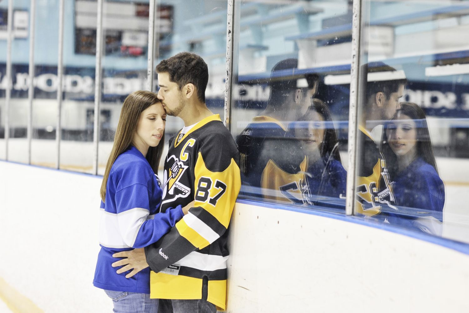 Hockey couples engagment